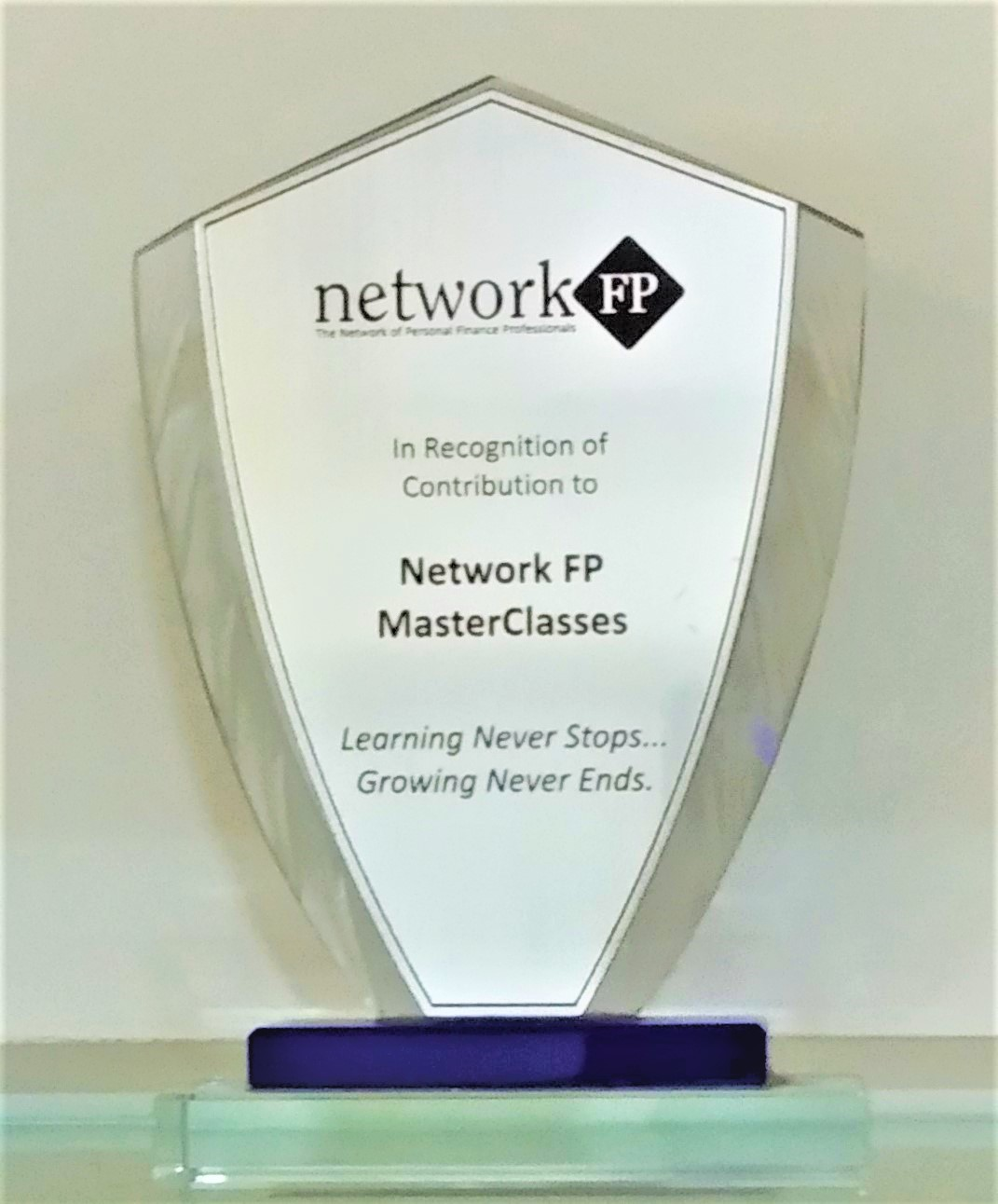 Achieved Recognition from networkFP Master classes