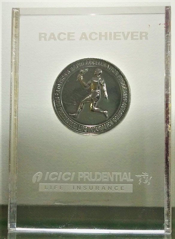 ICICI PRUDENTIAL-Achieved the RACE ACHIEVER AWARD
